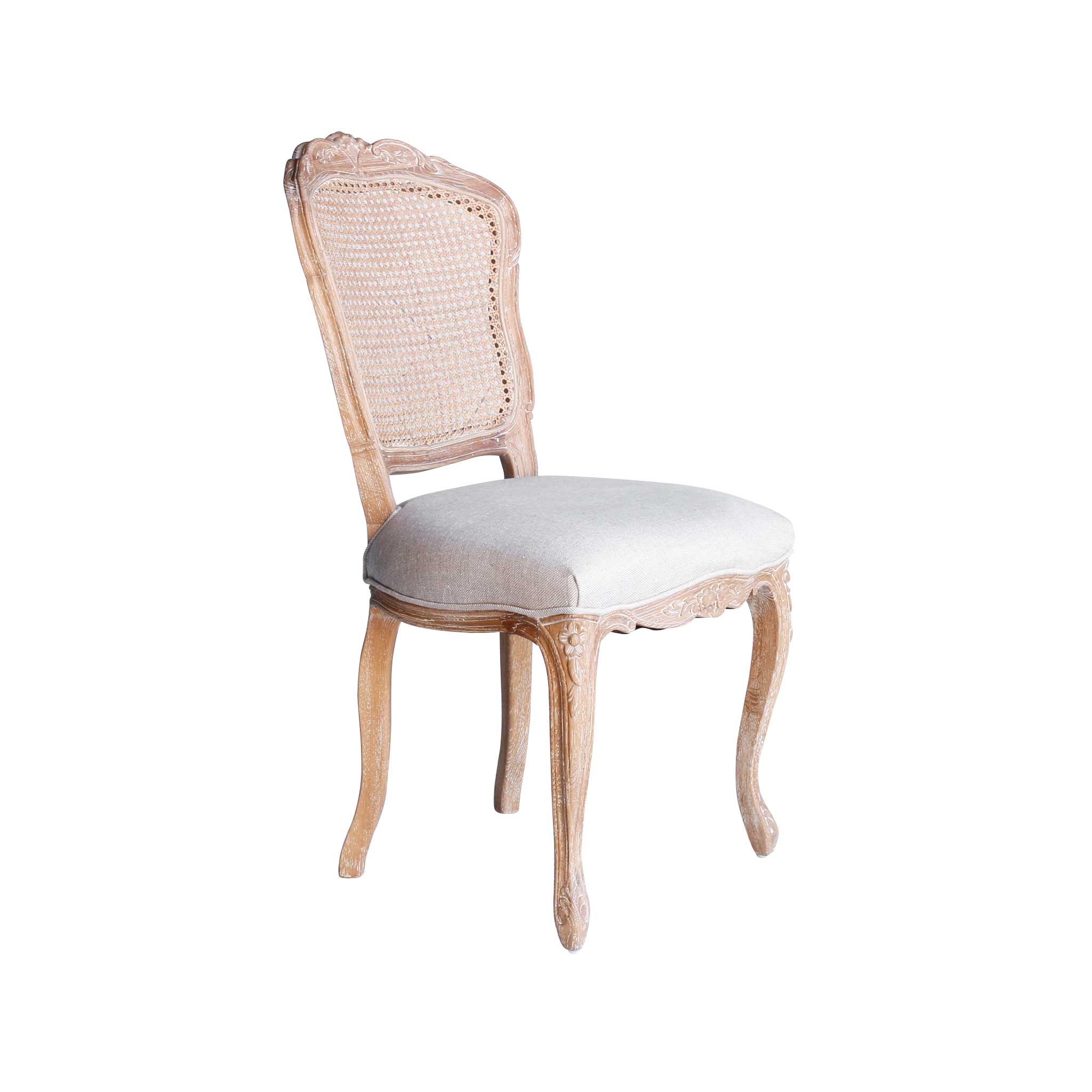 French Provincial Chair >> Lacey French Provincial Dining Chair With Rattan Back Set Of 2
