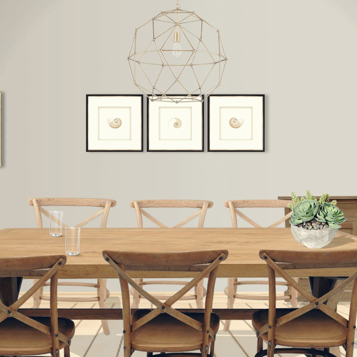 Cool Natural Oak Country Dining Table With 6X Oak Cross Back Chairs Interior Design Ideas Tzicisoteloinfo