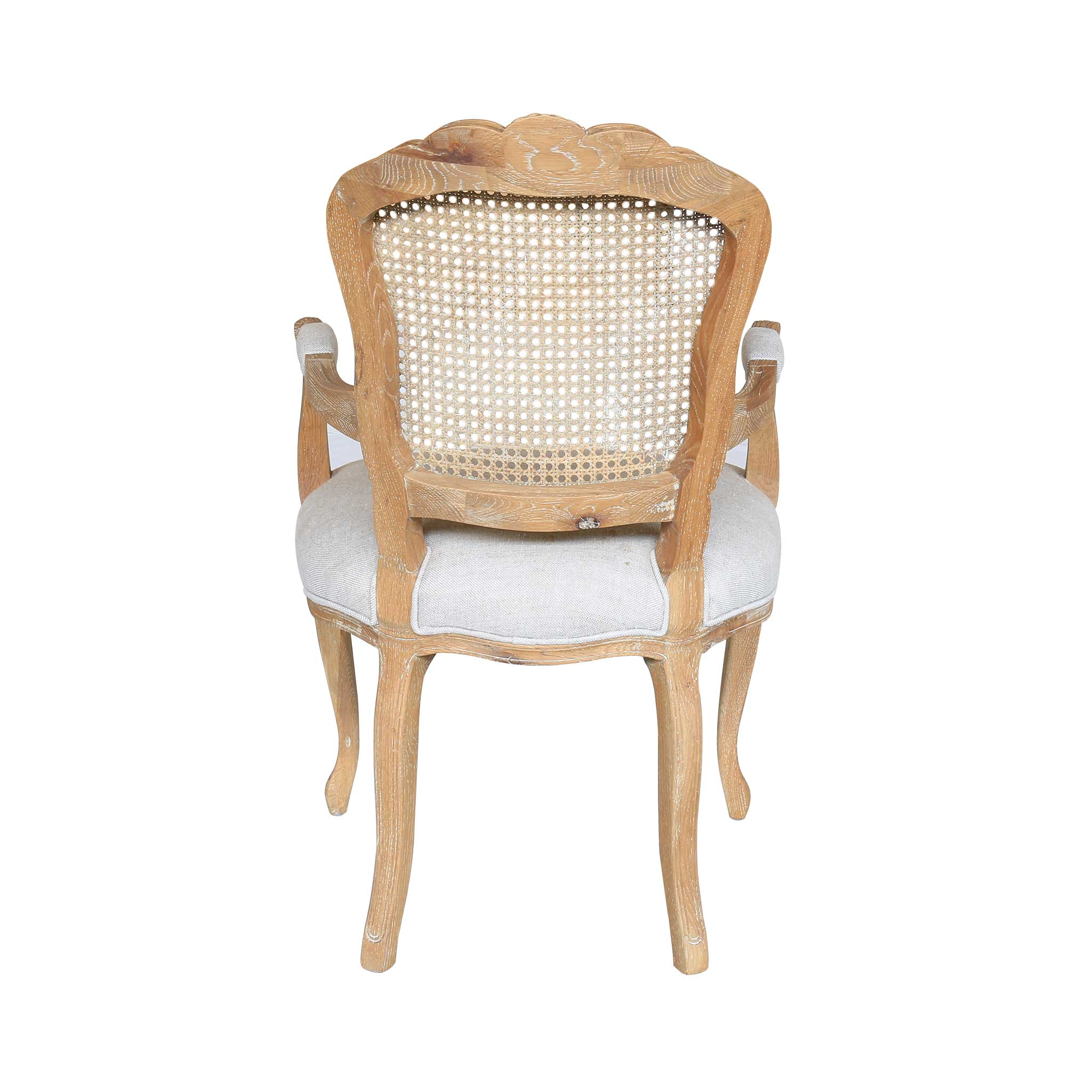 Lacey French Provincial Armchair with Rattan Back – Homeflex